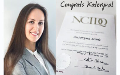Jencen Shout Out to Kateryna on Her NCIDQ Certification